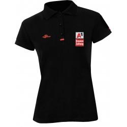 Damen Logo Poloshirt - Schwarz