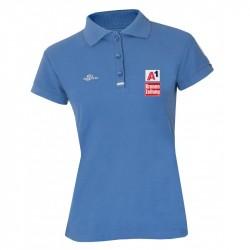Damen Logo Poloshirt - Blau