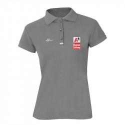 Damen Logo Poloshirt - Grau