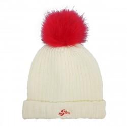 Mütze Beanie STRICK - Weiss...