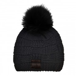 Mütze Beanie CHECK mit Bommel