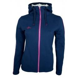 Sweaterjacke Zopf - Blau