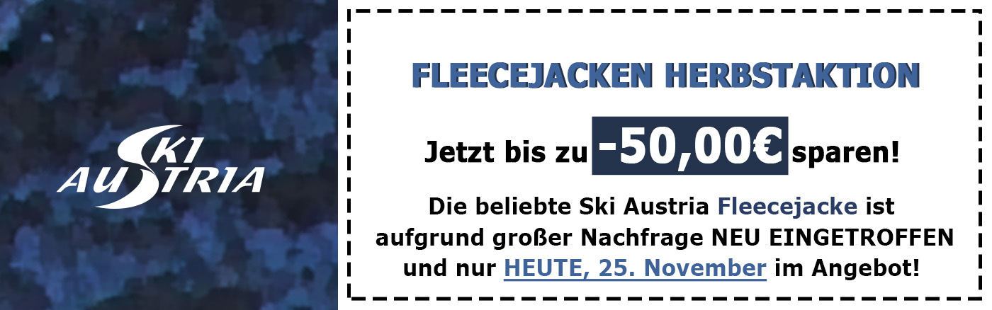 Fleecejacke Herbstaktion